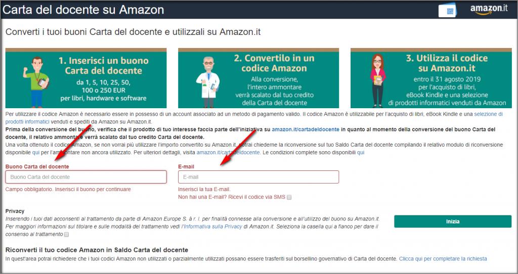 ea77b977f5 Carta del Docente in codice Amazon | Scuole digitali